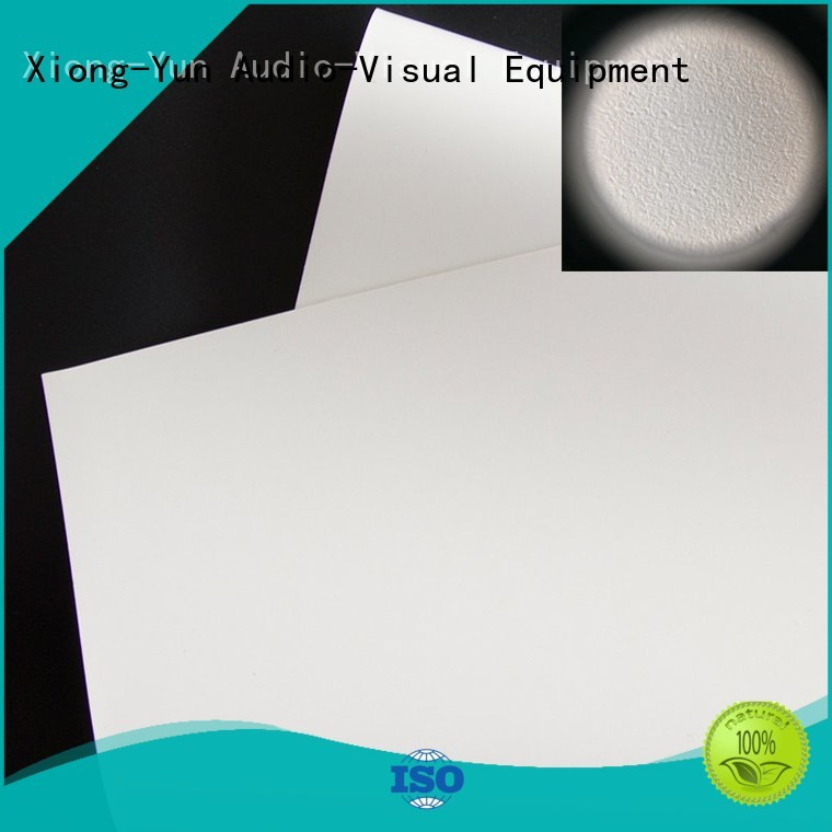 pvc bs1 fabric XY Screens Brand HD home theater projection screens with soft PVC fabric factory