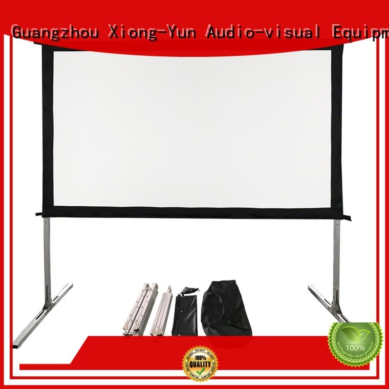 inch outdoor fold XY Screens outdoor projector screen