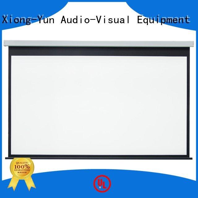 XY Screens Brand screen down Motorized Retractable Projector Screen hd 140180