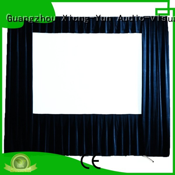 XY Screens Brand carry projection fold fast outdoor projector screen