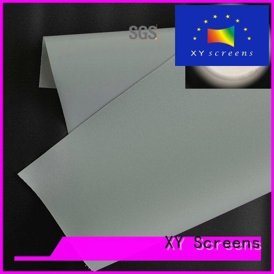 Front and rear portable projector screen rh201 flexible projector screen fabric XY Screens Warranty