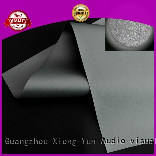 XY Screens projector screen fabric series for fixed frame projection screen