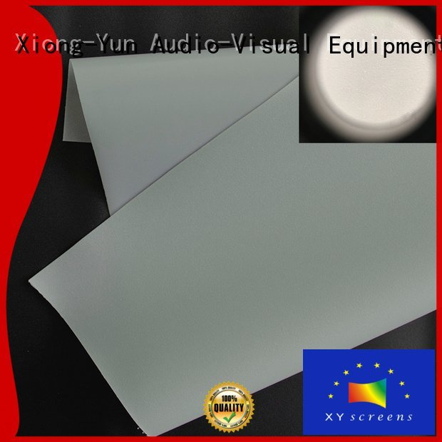 XY Screens Brand rgf1 front double projector screen fabric hard
