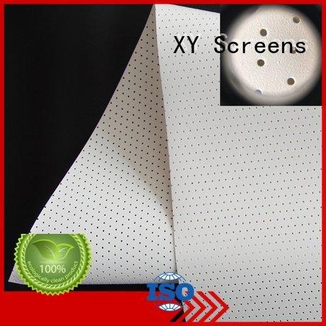 XY Screens acoustic fabric hg hd 4k
