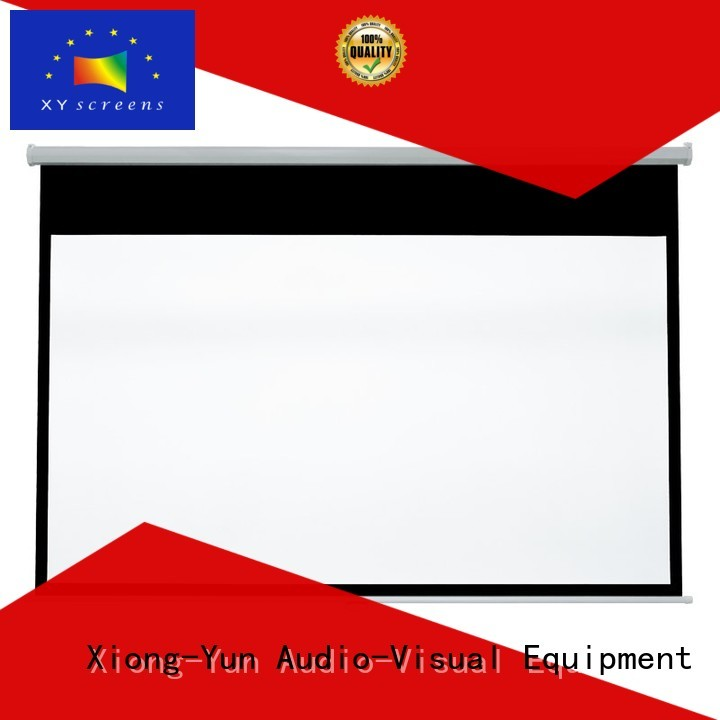 Quality XY Screens Brand pull down rear projection screen school pull