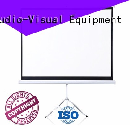 simple shape portable tripod projector screen factory price for office