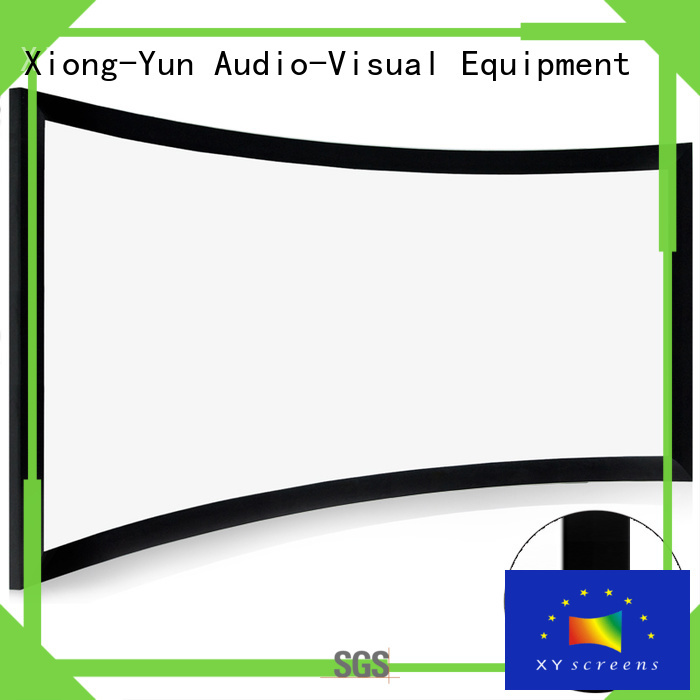 XY Screens thin curved home theater screen wholesale for household