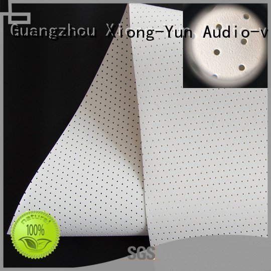 XY Screens acoustic fabric max5 hd transparent fabric