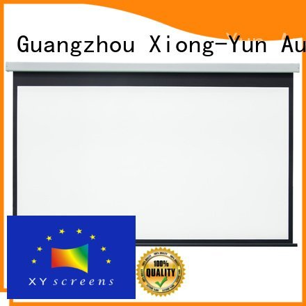 Wholesale inch retractable Motorized Retractable Projector Screen XY Screens Brand