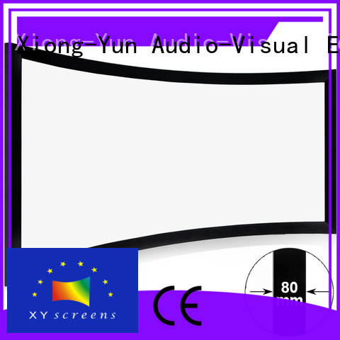 XY Screens mini curved projector screen wholesale for movies