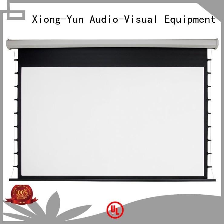 XY Screens Brand electric Motorized Projection Screen drop factory