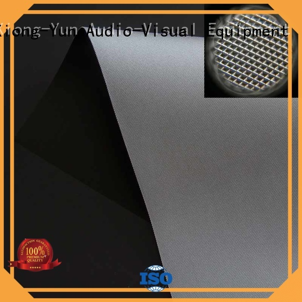 XY Screens Brand pet fabric custom matte white fabric for projection screen