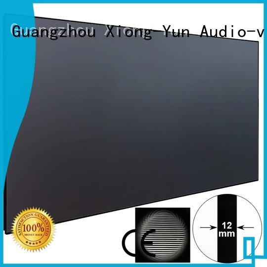 XY Screens ultra thin ultra short throw projector screen