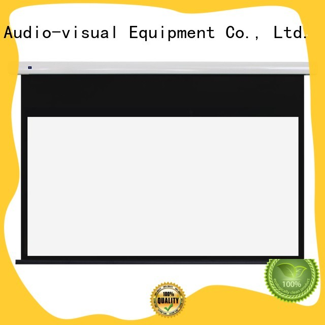 curved motorised projector screen wholesale for indoors