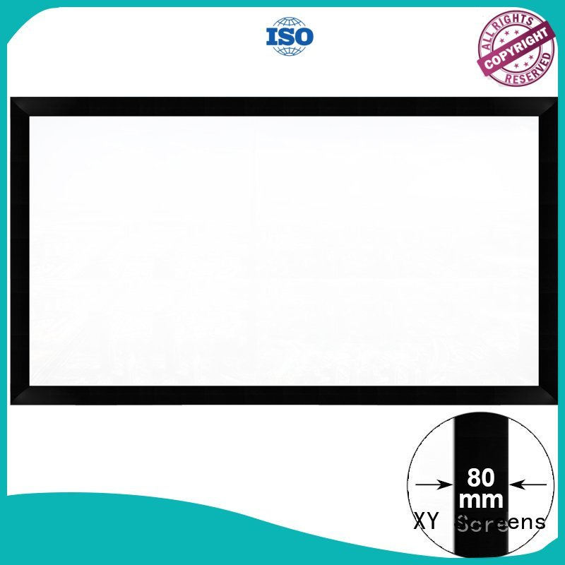XY Screens slim home theater projector screen factory price for home