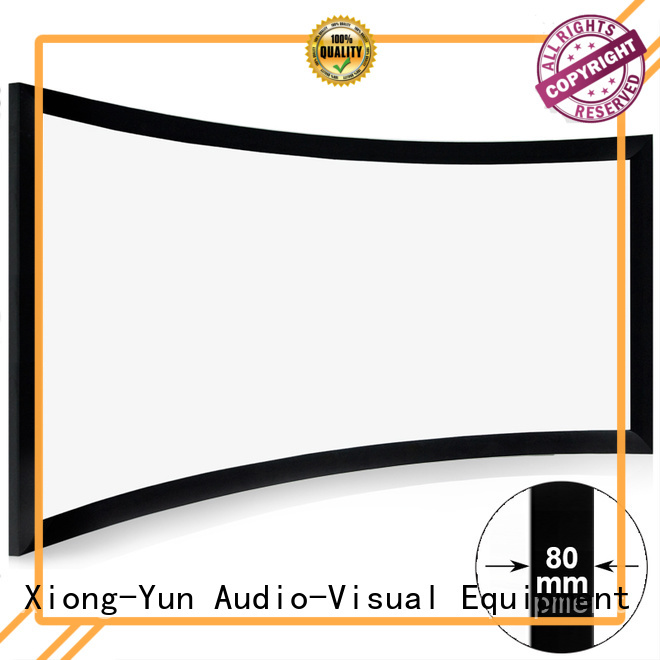 XY Screens slim curved home theater screen wholesale for ktv