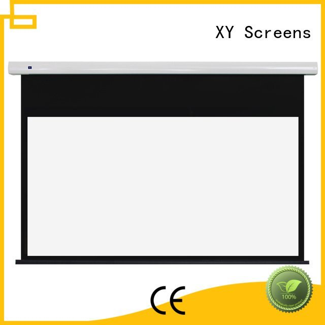free standing projector screen series Standard motorized series XY Screens Brand