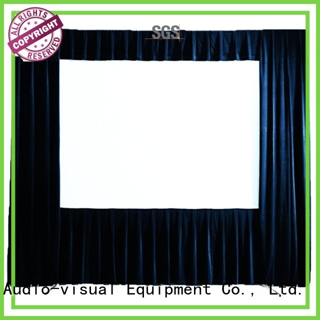 series 80135 outdoor pull down projector screen fast XY Screens company