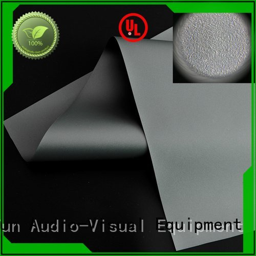 matte white fabric for projection screen throw XY Screens Brand Ambient Light Rejecting Fabrics