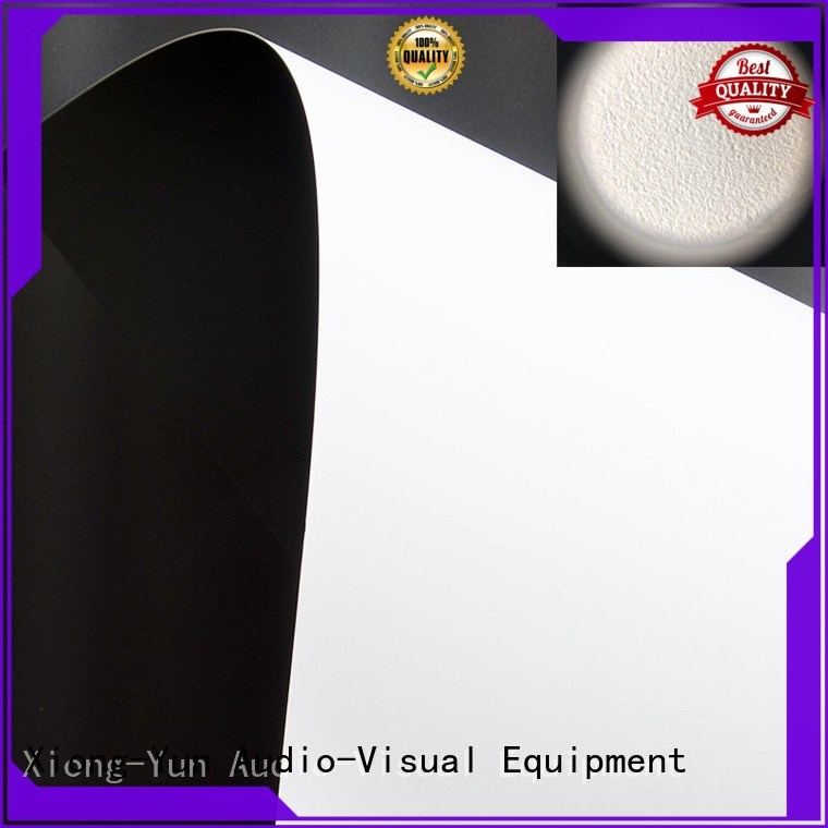 XY Screens professional projector fabric factory for motorized projection screen