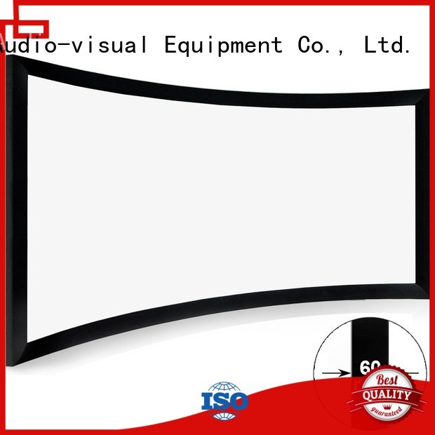 thin Home Entertainment Curved Projector Screens supplier for ktv