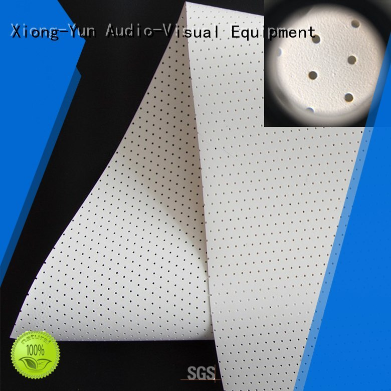 acoustic screen material for projector screen XY Screens