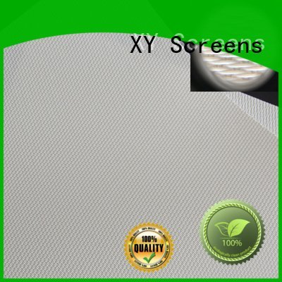 XY Screens acoustic fabric gain acoustically transparent