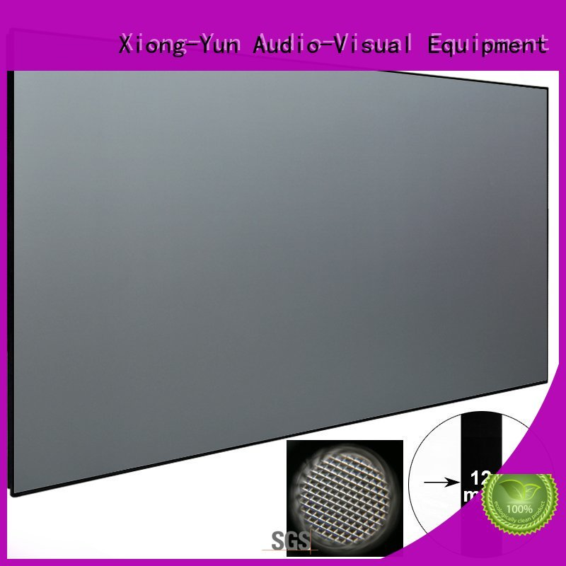 XY Screens light rejecting short throw theater projector customized for television