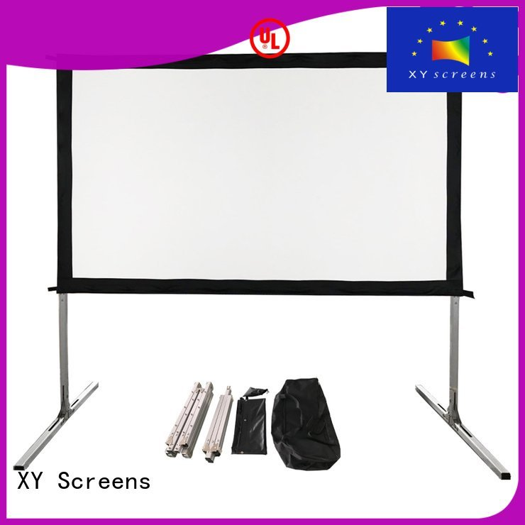outdoor pull down projector screen projection folding outdoor projector screen