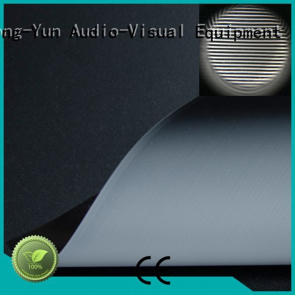 XY Screens grid throw rejecting matte white fabric for projection screen light