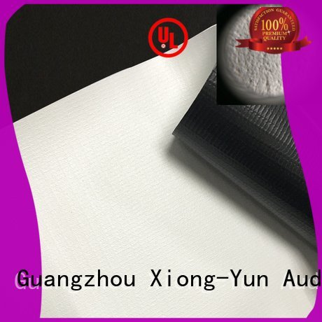 Custom matte front and rear fabric 4k HD home theater projection screens with soft PVC fabric