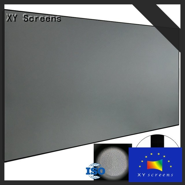 easy installation ambient light rejecting projector screen material wholesale for living room XY Screens