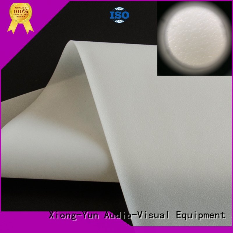 XY Screens hard rear projection fabric design for fixed frame projection screen