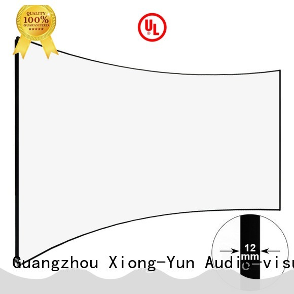 XY Screens curved home theater screen supplier for household