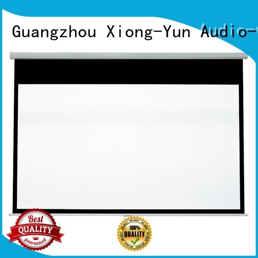 XY Screens advanced pull down projector screen design for school