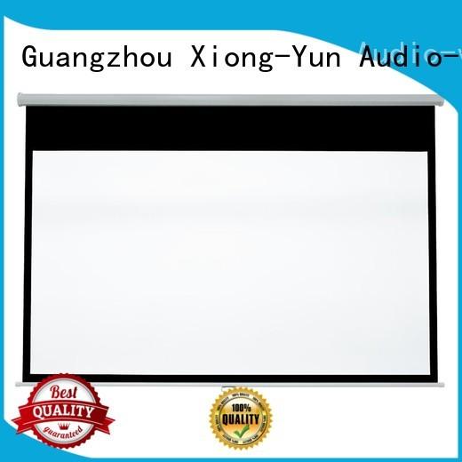 XY Screens advanced pull down projector screen design for school