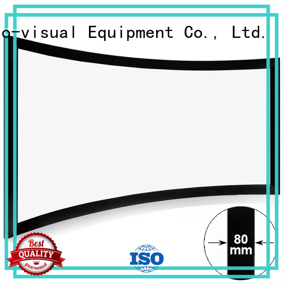 slim curved projector screen factory price for ktv
