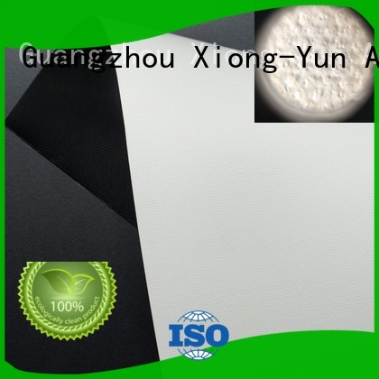 XY Screens projector fabric design for motorized projection screen