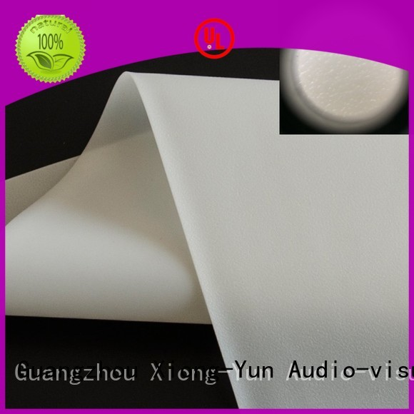 XY Screens hard rear projection fabric factory for fixed frame projection screen