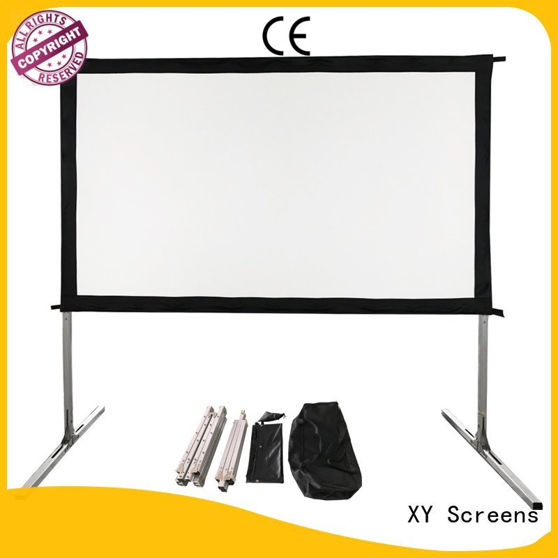 outdoor ff1 fast bag XY Screens outdoor pull down projector screen