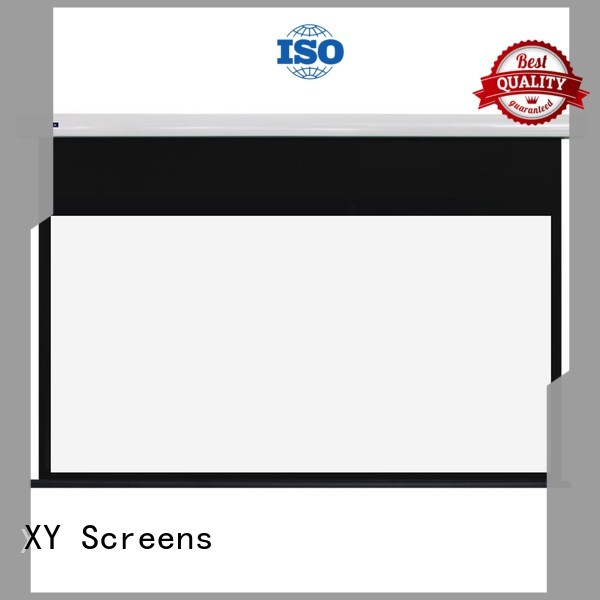 XY Screens intelligent electric projector screen supplier for home