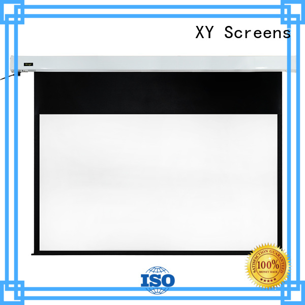 XY Screens Brand sphkblack slim sound projection screen manufacturer manufacture