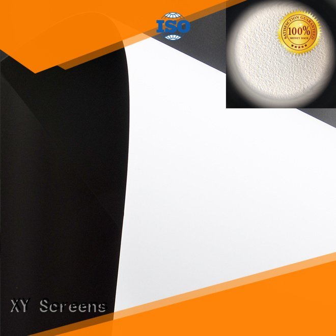 Quality HD home theater projection screens with soft PVC fabric XY Screens Brand pro front and rear fabric