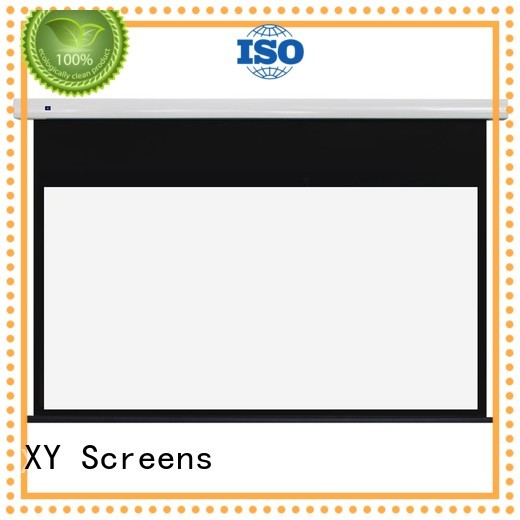 XY Screens stable fixed projector screen design for indoors