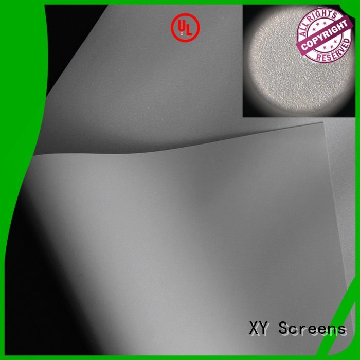 XY Screens Brand gain 3d flexible front and rear fabric