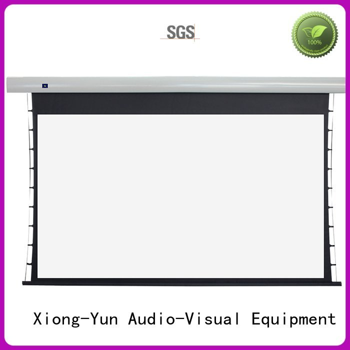 tab tensioned electric projector screen motorized series screen tabtensioned XY Screens