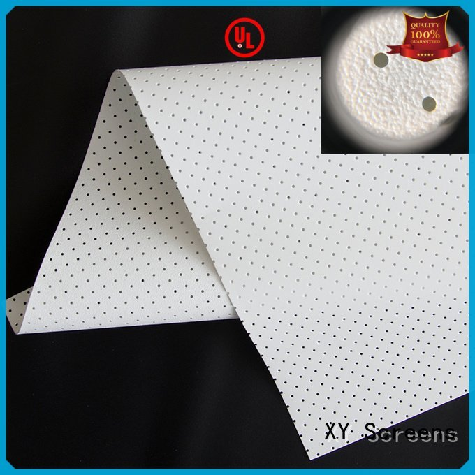 XY Screens transparent metallic 4k acoustic fabric woven