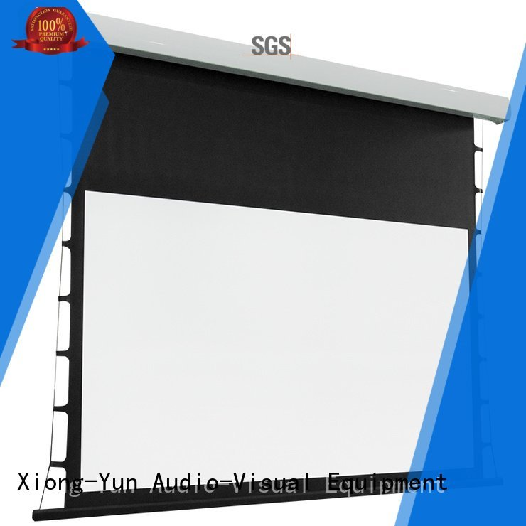 XY Screens tab tensioned electric projector screen tabtensioned screen motorized ec2