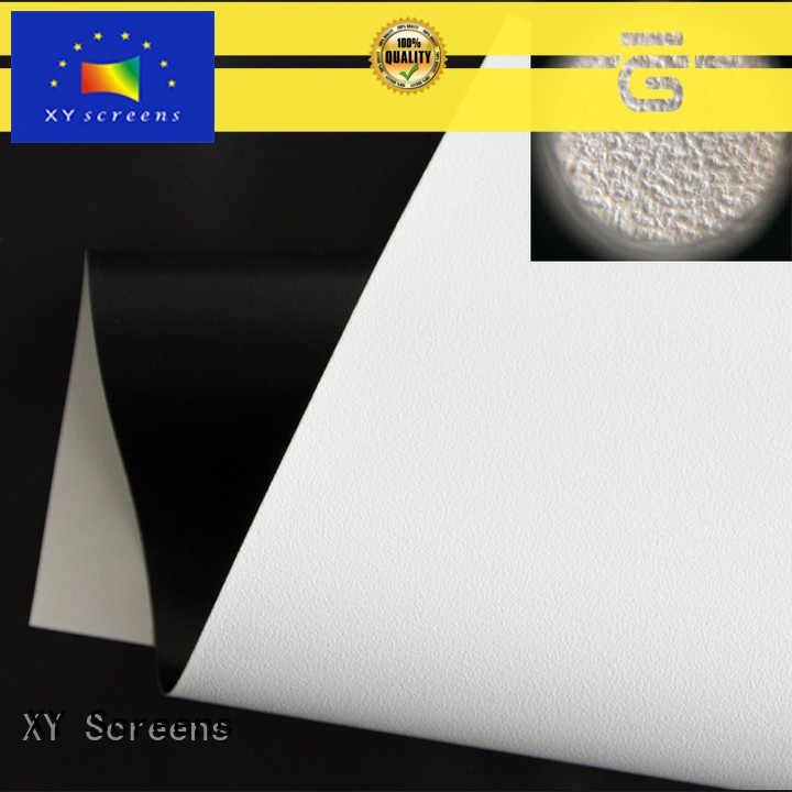 front and rear fabric with good price for fixed frame projection screen XY Screens