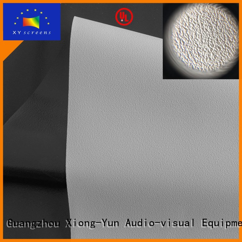 XY Screens quality projector fabric pvc for thin frame projector screen